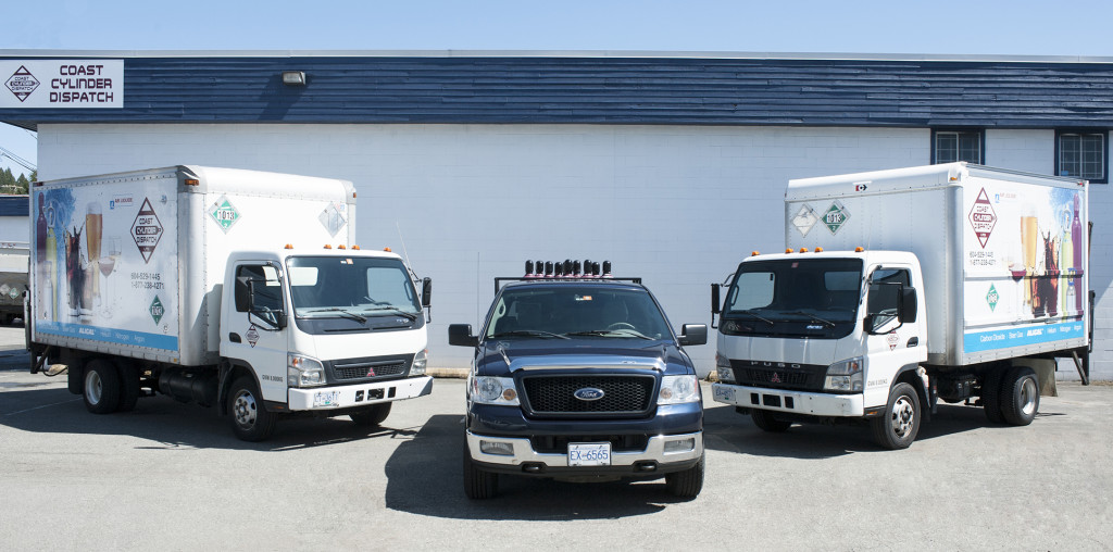 Coast Cylinder Delivery Trucks